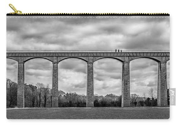 Carry-all Pouch featuring the photograph Sky Walkers by Nick Bywater