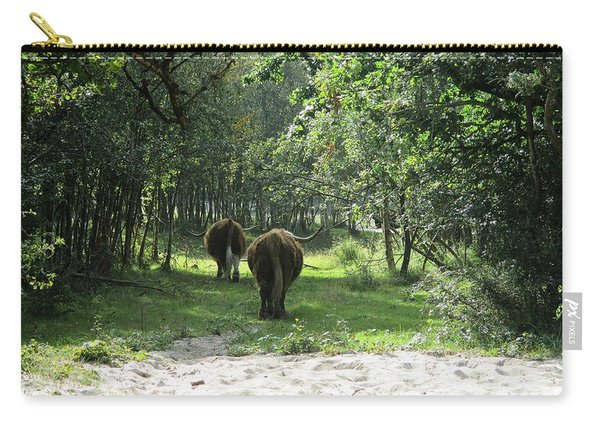 Highland Cattle In The Noordhollandse Duinreservaat Carry-all Pouch