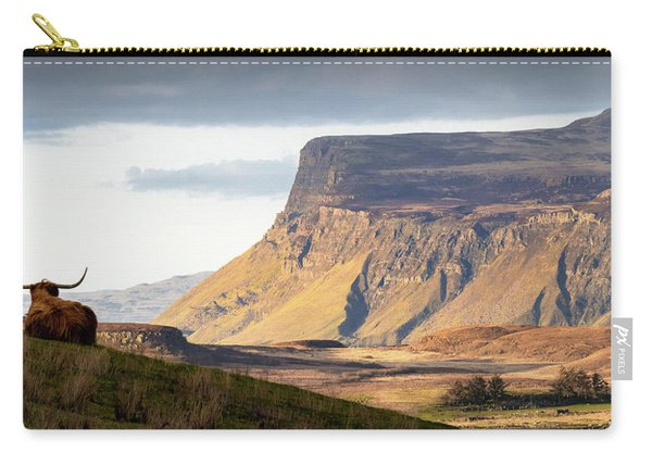 Highland Coo With A View Carry-all Pouch