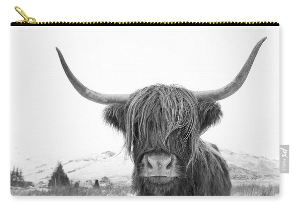 Highland Cow Mono Carry-all Pouch