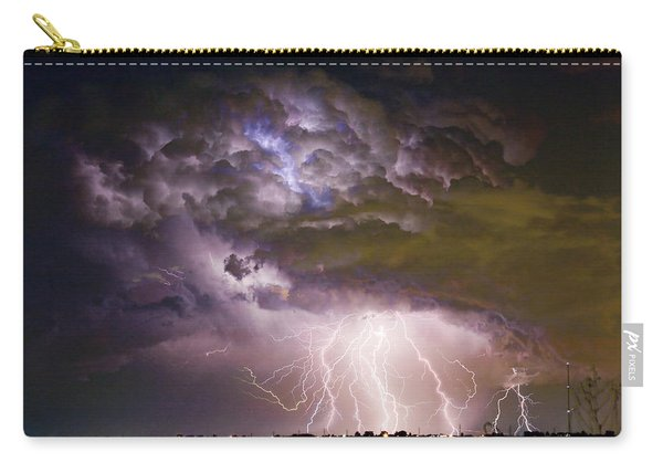 Highway 52 Storm Cell - Two And Half Minutes Lightning Strikes Carry-all Pouch