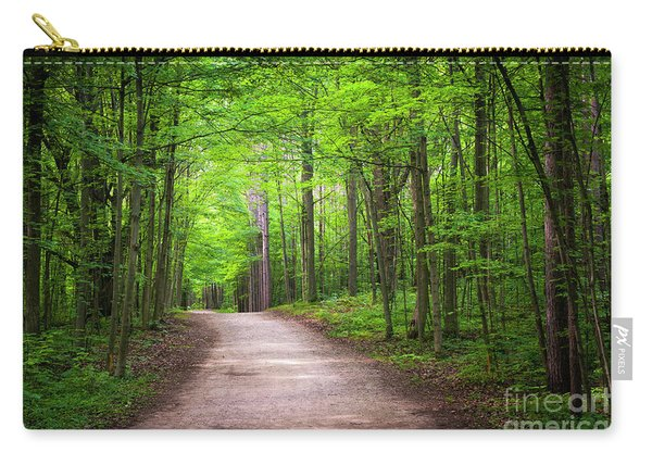 Hiking Trail In Green Forest Carry-all Pouch