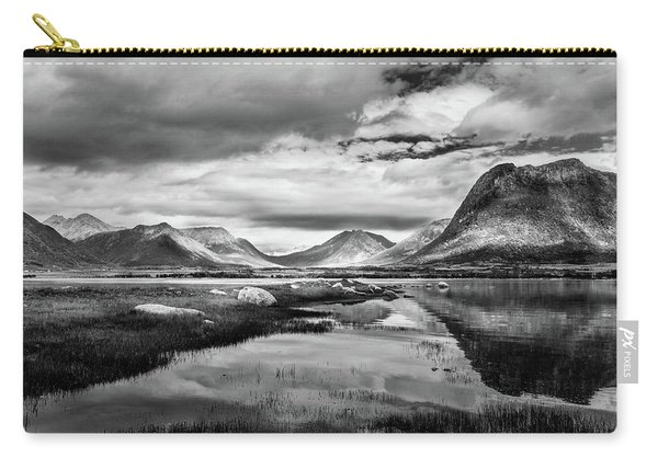 Carry-all Pouch featuring the photograph Hills Of Vesteralen by Dmytro Korol