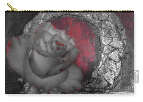 Hints Of Red - Rose Carry-all Pouch