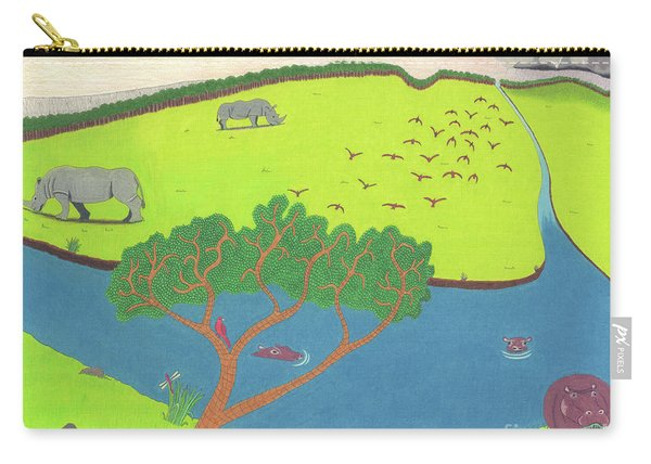 Hippo Awareness Carry-all Pouch