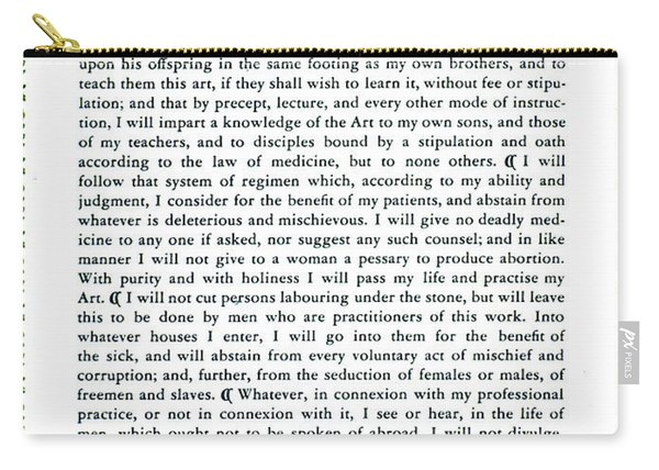 Hippocratic Oath, 1938 Carry-all Pouch