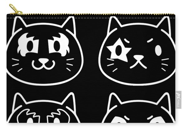 Hiss Black And White Carry-all Pouch