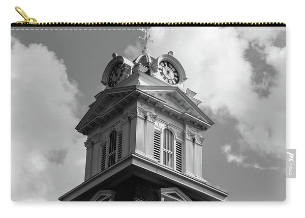 Historic Courthouse Steeple In Bw Carry-all Pouch