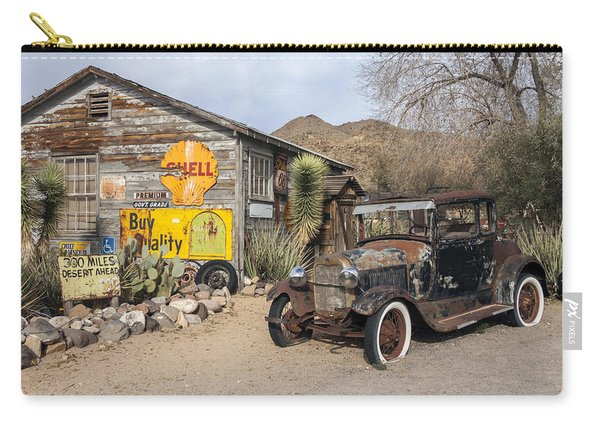 Historic Route 66 - Old Car And Shed Carry-all Pouch