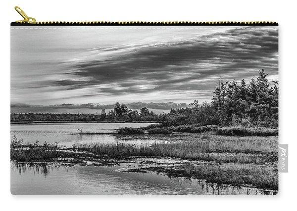 Historic Whitebog Landscape Black - White Carry-all Pouch