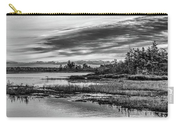 Historic Whitebog Landscape Black - White Carry-all Pouch