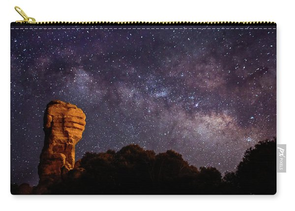 Hitchcock Pinnacle Nightscape -- Milky Way Carry-all Pouch