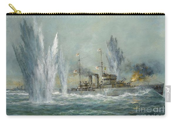 Hms Exeter Engaging In The Graf Spree At The Battle Of The River Plate Carry-all Pouch