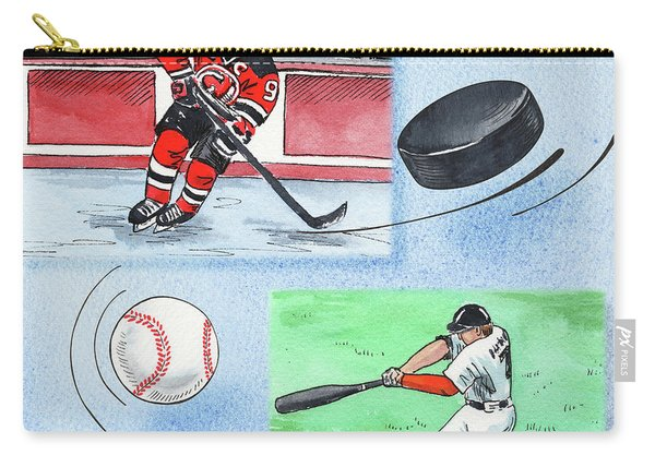 Hockey And Baseball Carry-all Pouch