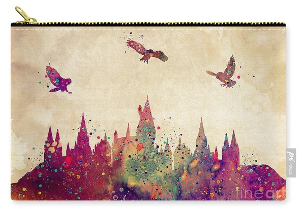 Hogwarts Castle Watercolor Art Print Carry-all Pouch
