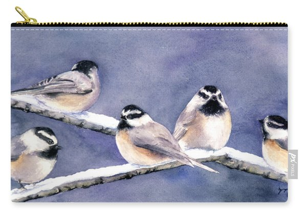 Holiday Chickadees Carry-all Pouch