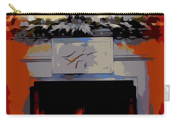 Holiday Fireplace #1 Carry-all Pouch