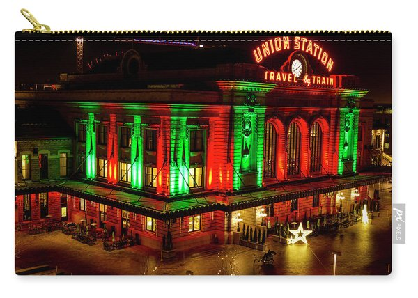 Holiday Lights At Union Station Denver Carry-all Pouch
