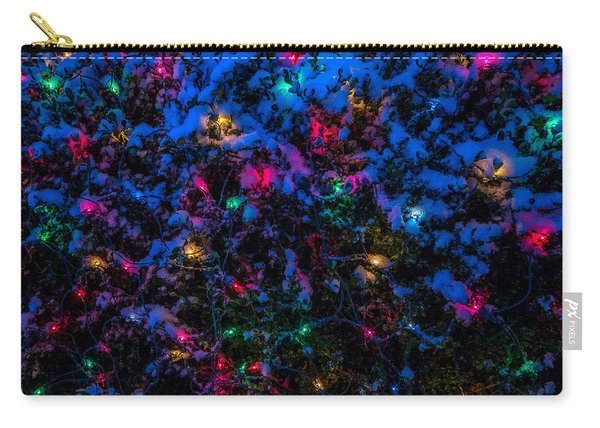 Holiday Lights In Snow Carry-all Pouch