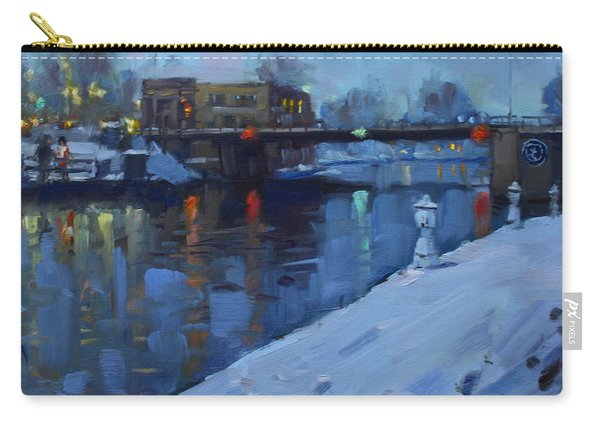 Holiday Lights In Tonawanda Canal  Carry-all Pouch