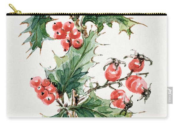 Holly And Rosehips Carry-all Pouch