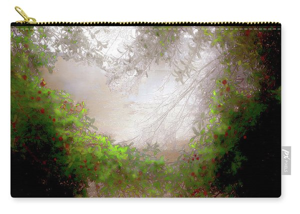 Holly Heart Carry-all Pouch