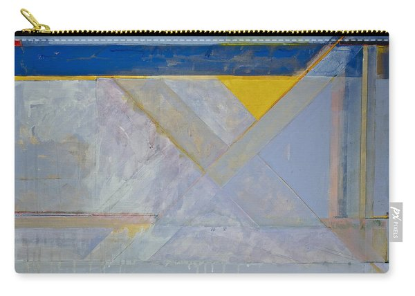 Carry-all Pouch featuring the painting Homage To Richard Diebenkorn's Ocean Park Series  by Cliff Spohn