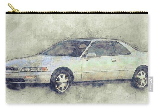 Honda Acura Legend 1 - Executive Car - 1985 - Automotive Art - Car Posters Carry-all Pouch