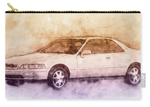 Honda Acura Legend 2 - Executive Car - 1985 - Automotive Art - Car Posters Carry-all Pouch