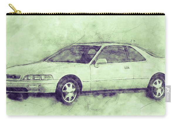 Honda Acura Legend 3 - Executive Car - 1985 - Automotive Art - Car Posters Carry-all Pouch
