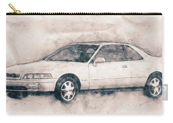 Honda Acura Legend - Executive Car - 1985 - Automotive Art - Car Posters Carry-all Pouch