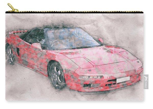 Honda Nsx 1 - Acura Nsx - Sports Car - Automotive Art - Car Posters Carry-all Pouch