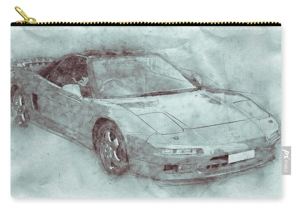 Honda Nsx 3 - Acura Nsx - Sports Car - Automotive Art - Car Posters Carry-all Pouch