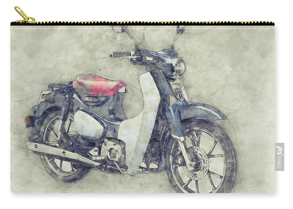 Honda Super Cub 1 - Motor Scooters - 1958 - Motorcycle Poster - Automotive Art Carry-all Pouch