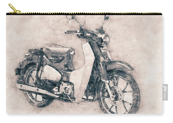 Honda Super Cub - Motor Scooters - 1958 - Motorcycle Poster - Automotive Art Carry-all Pouch