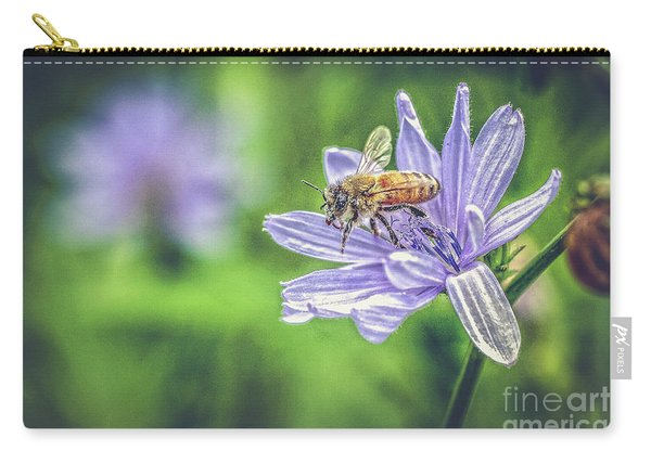 Honey Bee And Flower Carry-all Pouch