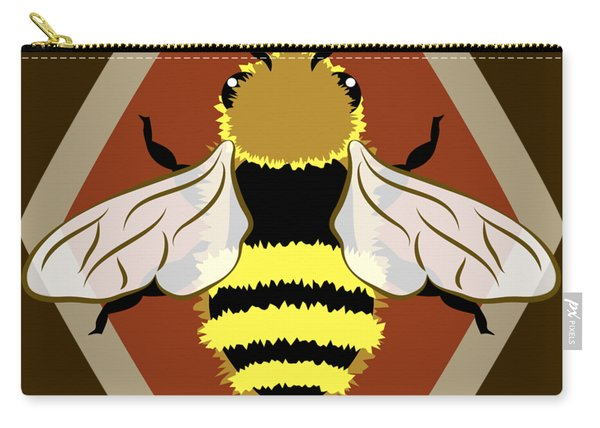 Honey Bee Graphic Carry-all Pouch