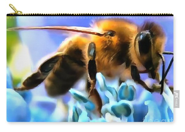 Honey Bee In Interior Design Thick Paint Carry-all Pouch