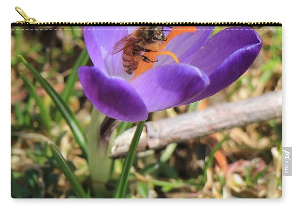 Honey Bee On Crocus  Carry-all Pouch