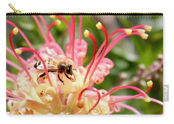 Honey Bee On Grevillea  Carry-all Pouch