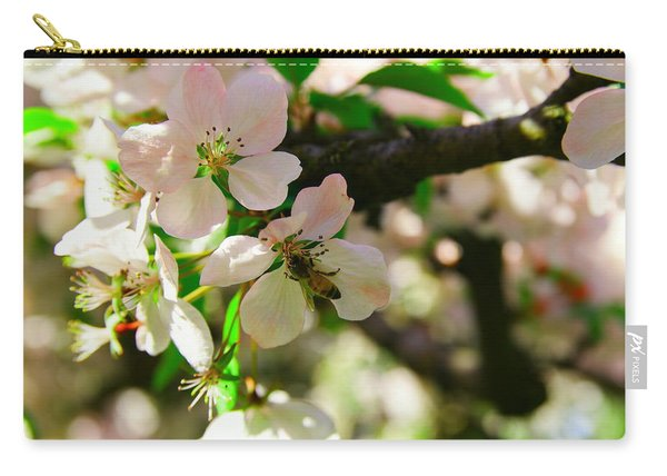 Honeybee In White Blossoms Carry-all Pouch