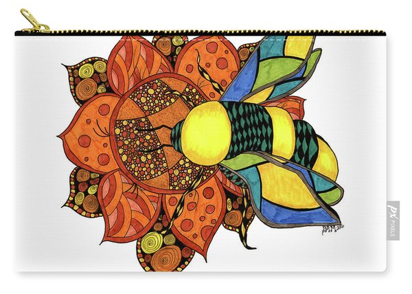 Honeybee On A Flower Carry-all Pouch