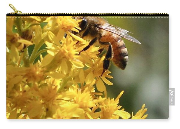 Honeybee On Showy Goldenrod Carry-all Pouch