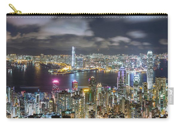 Hong Kong Panorama Skyline At Night, View From The Peak Carry-all Pouch