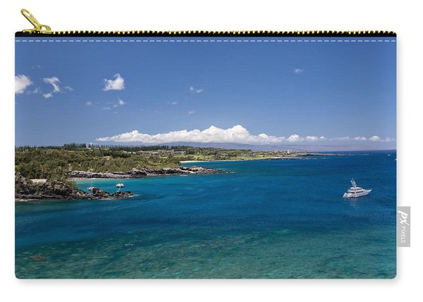 Carry-all Pouch featuring the photograph Honolua Bay by Jim Thompson