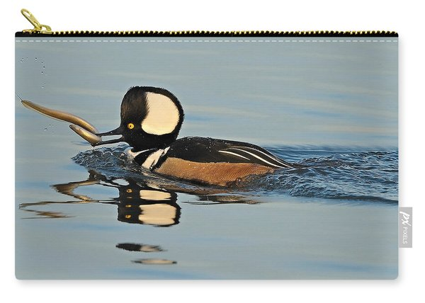 Hooded Merganser And Eel Carry-all Pouch