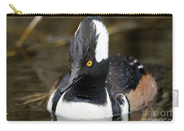Hooded Merganser Hanging Out Carry-all Pouch