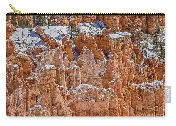 Hoodoos After A Snowfall Carry-all Pouch