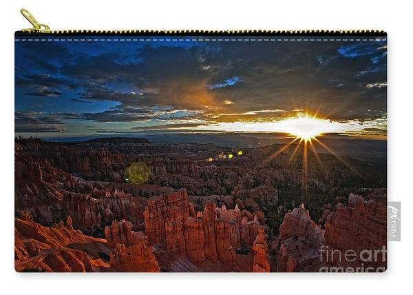 Carry-all Pouch featuring the photograph Hoodoos At Sunrise Bryce Canyon National Park by Sam Antonio
