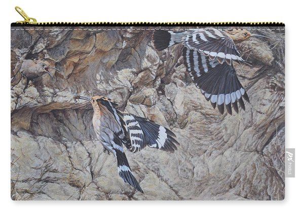 Hoopoes Feeding Carry-all Pouch